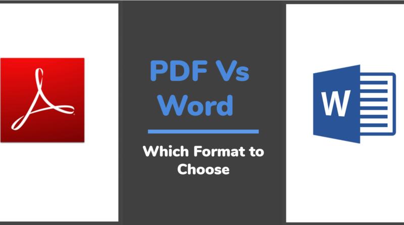pdf or word